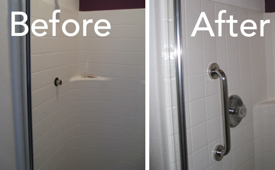 Install Grab Bars - Bathroom | Todds Porcelain & Fiberglass Repair