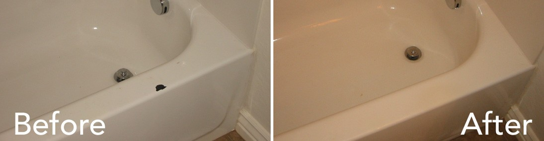 An example of a recent bathtub repaired by Todd's Bathtubs in Mesa Arizona