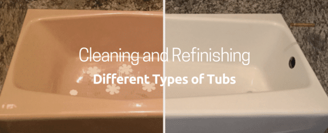 Cleaning and refinishing different types of tubs